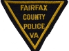 Early 1940s Fairfax County Police Triangle Patch